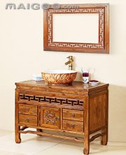 中式浴室柜 中式实木浴室柜