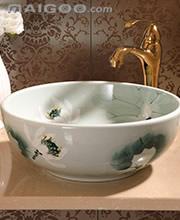 中式陶瓷台盆 中式洗脸盆