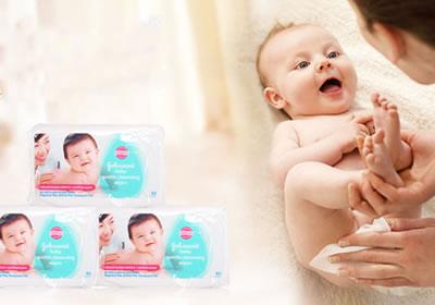 强生婴儿湿巾