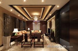 新中式客厅效果图