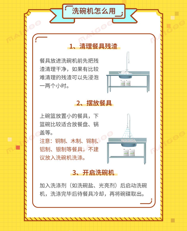 洗碗机使用方法